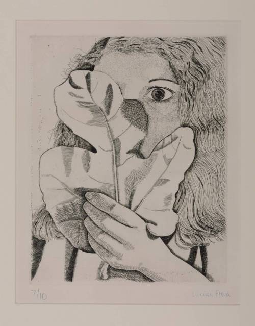 Girl with a Fig Leaf 1947 by Lucian Freud 1922-2011
